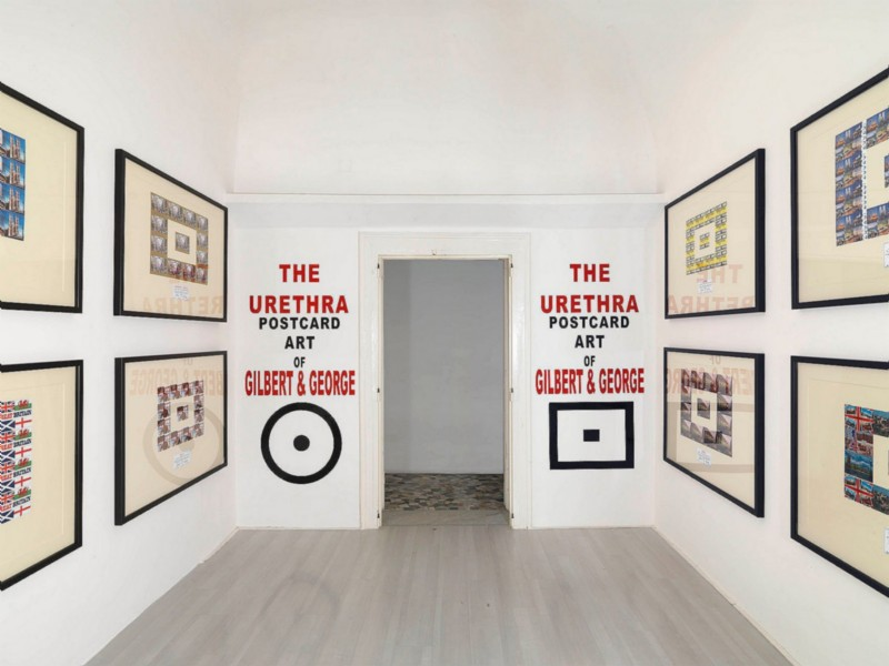 Gilbert & George, Urethra Postcard Pictures, partial view of the exhibition, March 2011