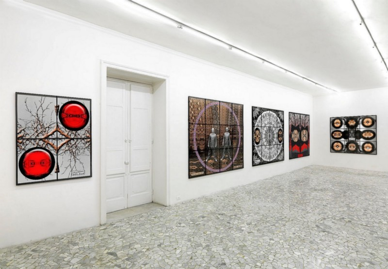 Gilbert & George, Jack Freak Pictures, partial view of the exhibition, December 2009
