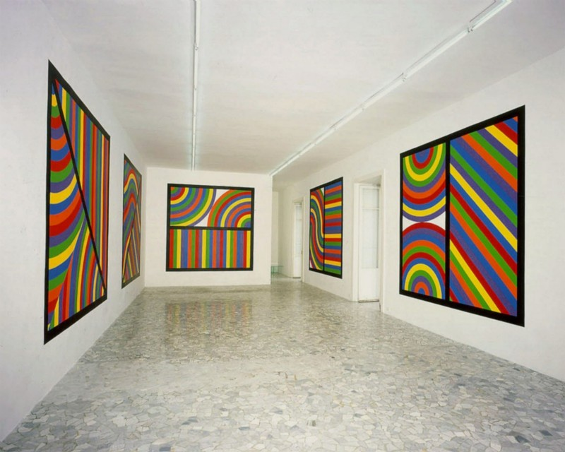 Sol LeWitt, New Wall Drawings, partial view of the exhibition, May 2005