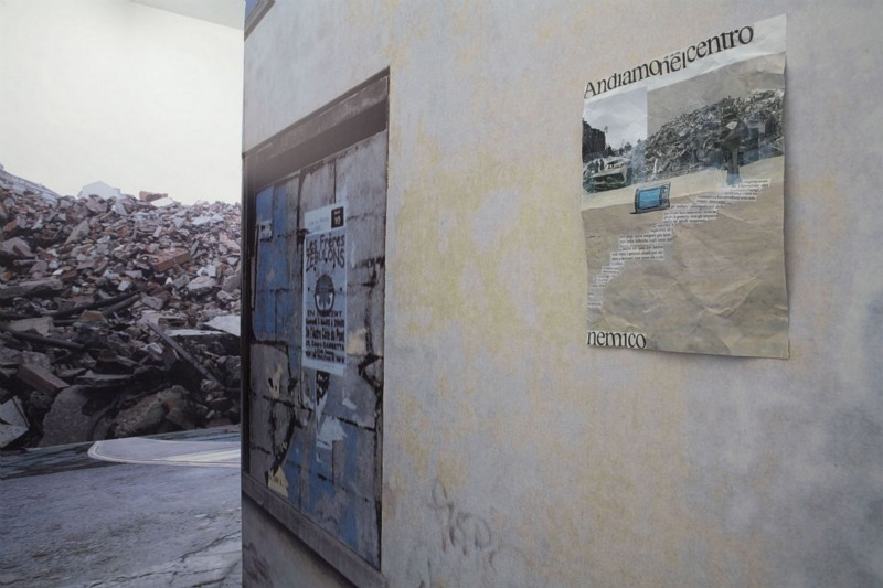 Botto & Bruno, A concrete town is coming, partial view of the exhibition, February 2006
