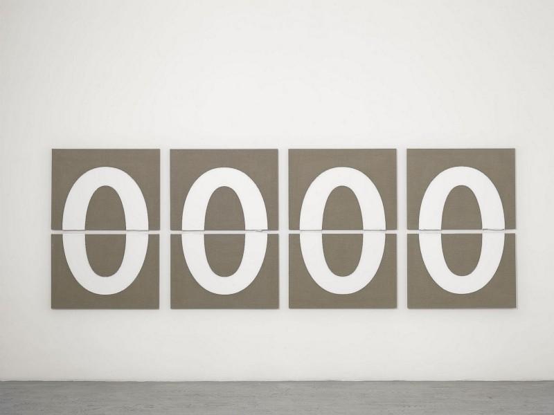 Day Break, 2014, acrylic on linen, cm 70 x 100 each, cm 145 x 430 overall dimensions