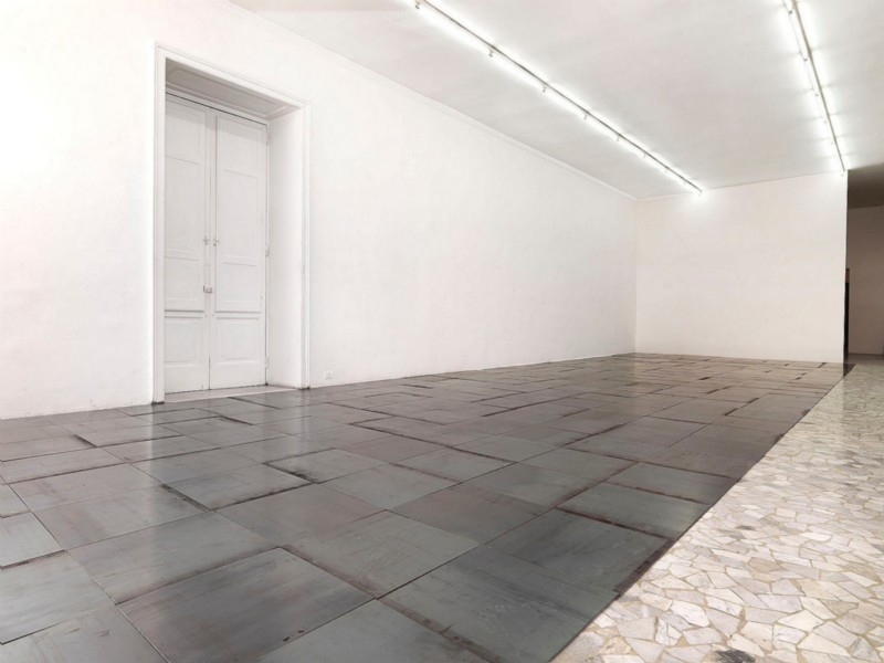 Carl Andre, partial view of the exhibition, September 2010
