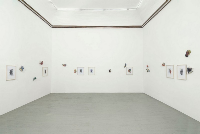 Edi Rama, Lavoro, partial view of the exhibition, January 2020