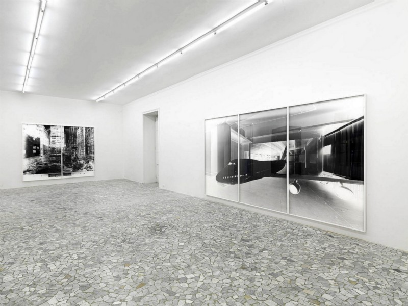 Vera Lutter, partial view of the exhibition, October 2011