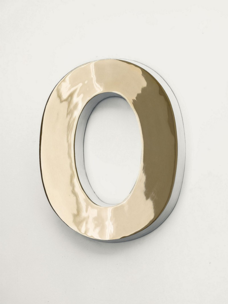 HOLD (White), 2014, bronze and paint, cm 53 x 42 x 7, edition of 3 + 2 AP