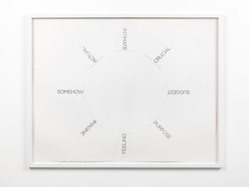 Untitled, 2014, mixed media on paper, pencil and silver vinyl film, cm 76 x 99