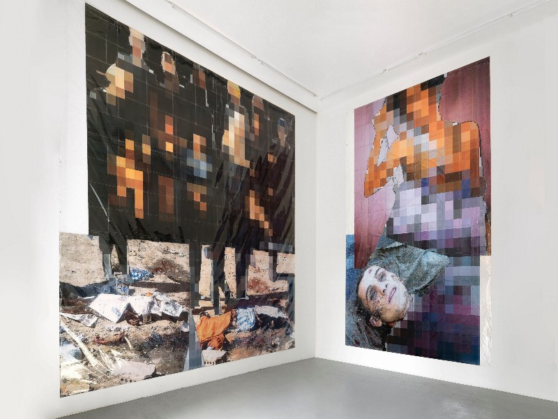 Thomas Hirschhorn, Behind Facelessness, Partial view of the exhibition, April 2017