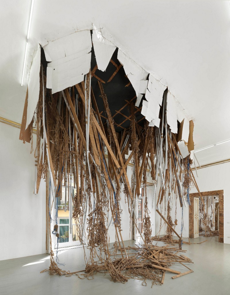 Thomas Hirschhorn, Break-Trough, partial view of the exhibition, April 2013