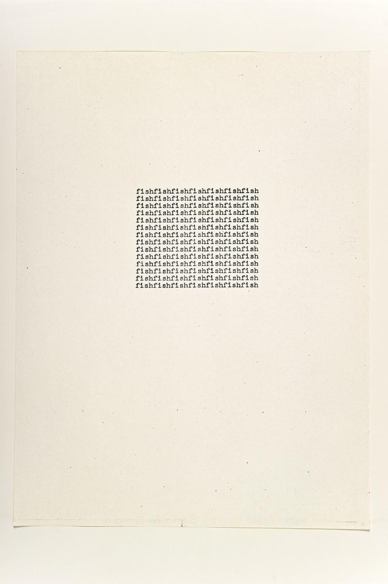 fish, 1963, xerox, cm 28 x 21,5