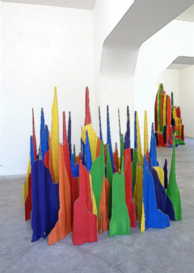 Sol LeWitt, New Work, partial view of the exhibition, May 2002
