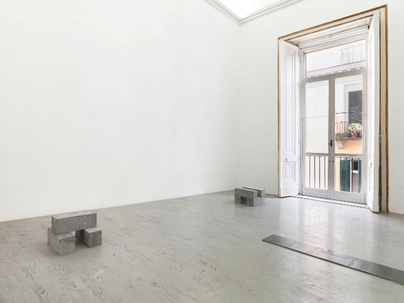 Carl Andre, partial view of the exhibition, September 2013