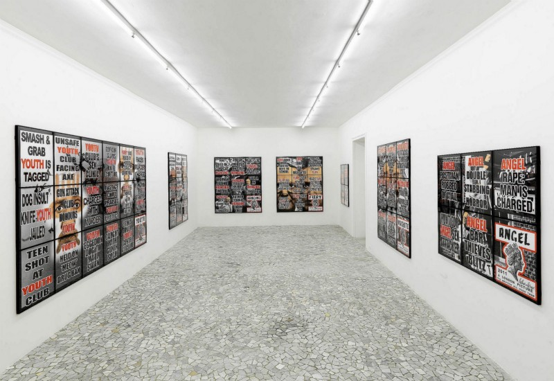 Gilbert & George, London Pictures, partial view of the exhibition, May 2012