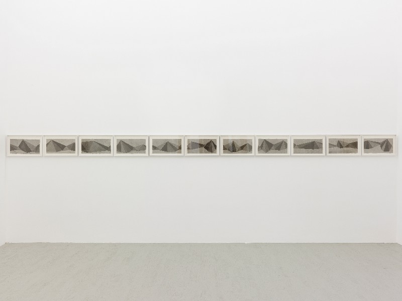 Sol LeWitt, Pyramids 1986, partial view of the exhibition, November 2012