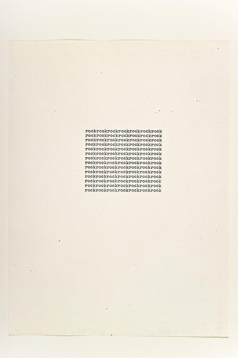 Rock, 1963, xerox, cm 28 x 21,5