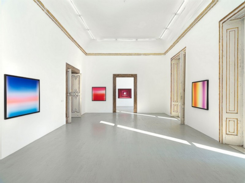 Gioberto Noro, Colori nel Vuoto, partial view of the exhibition, January 2020