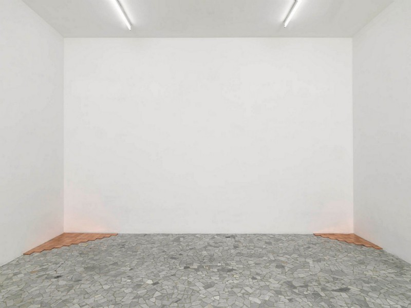 Carl Andre, partial view of the exhibition, February 2008