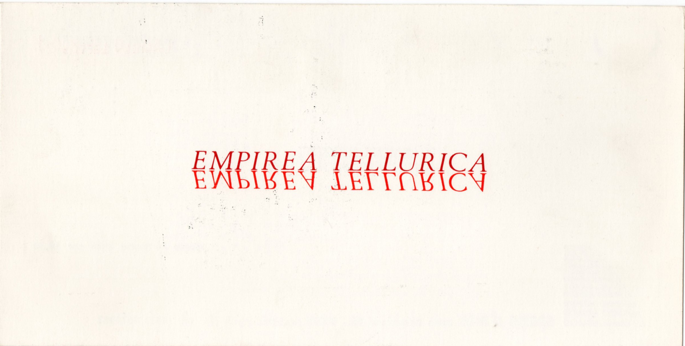 Empirea Tellurica